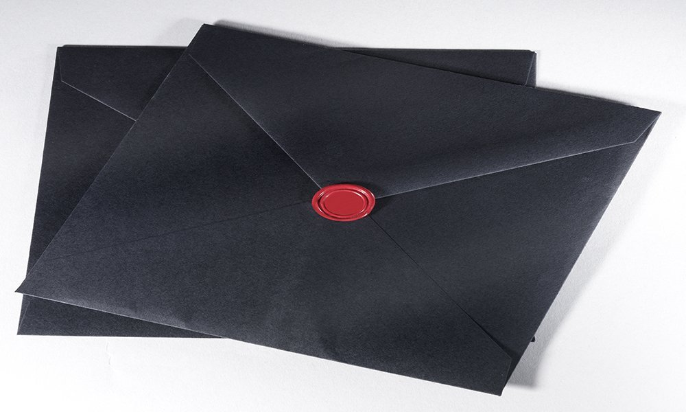Black Envelope and Seal