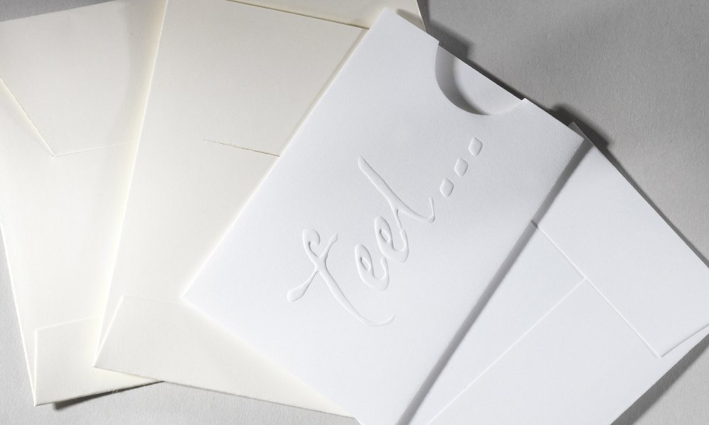 Blind Embossed Thumb Cut Tab Slot Envelope