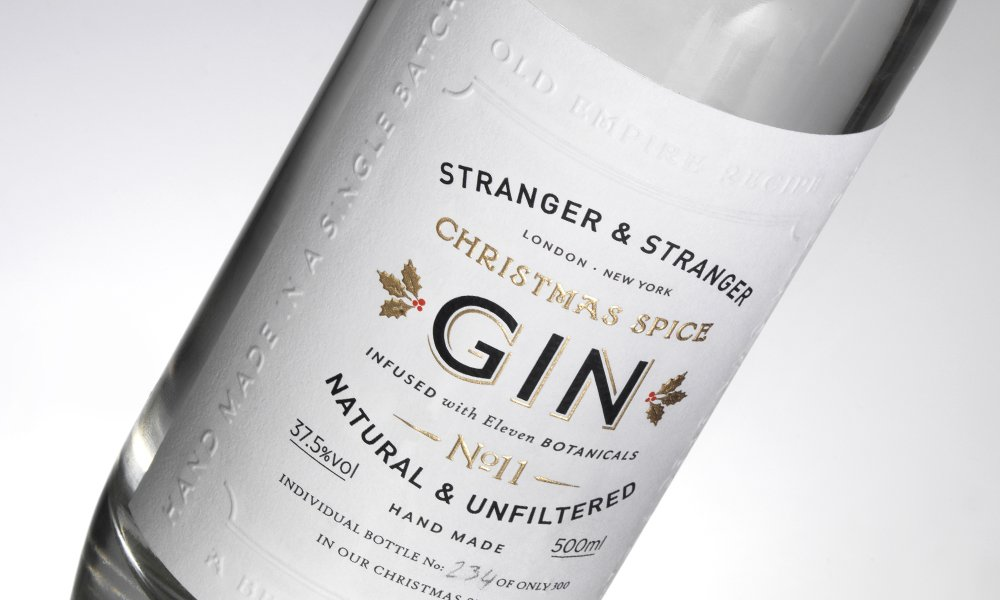 Stranger and Stranger Bind Embossed Gin Label