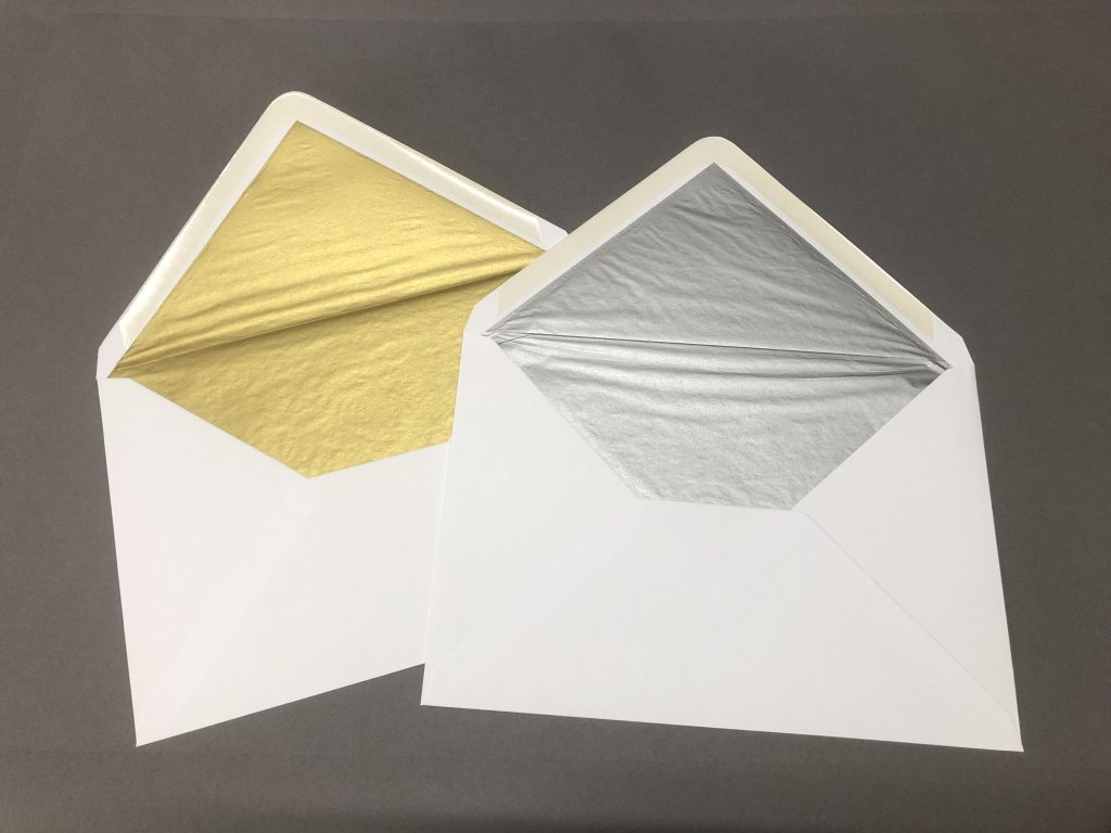 Silver and Gold Lined Envelopes